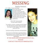 Hayley Howard Missing Poster